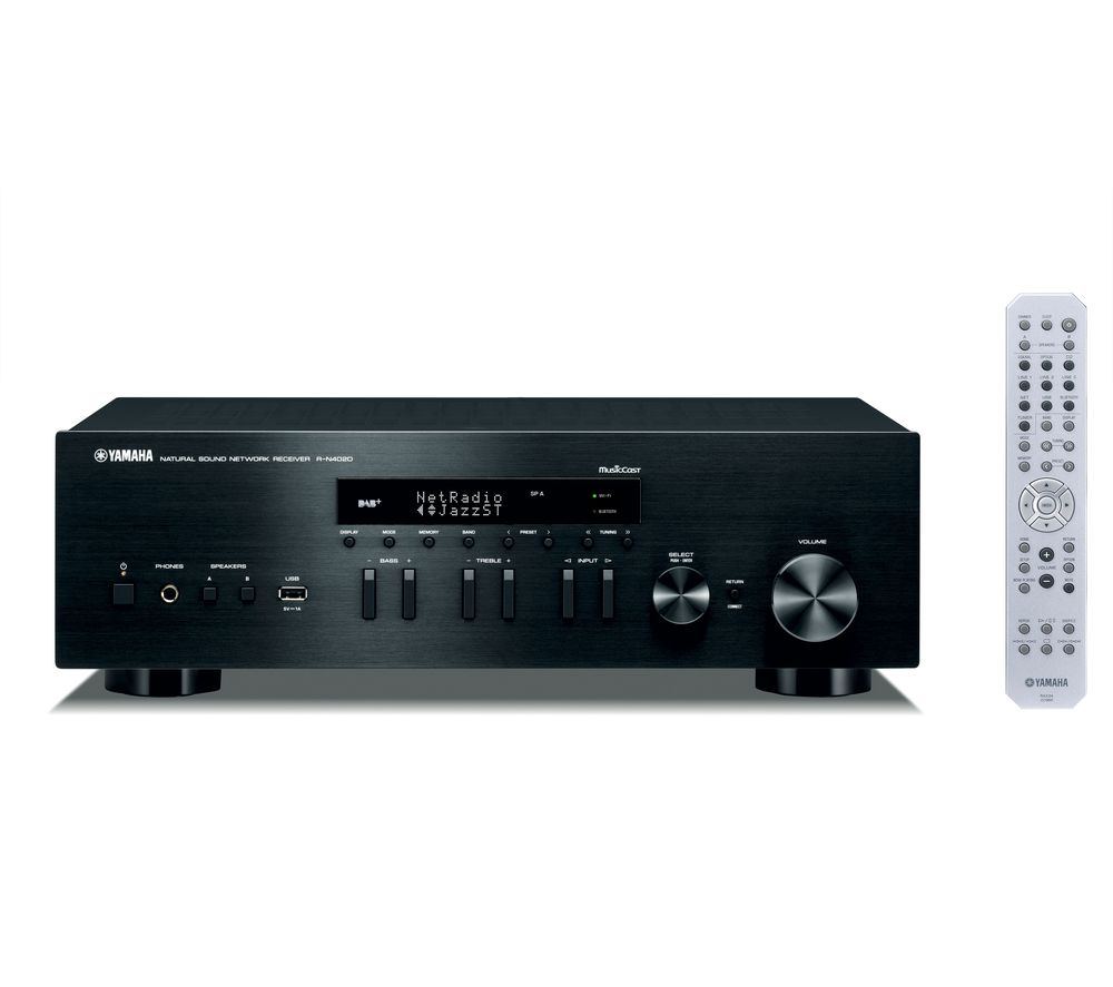 YAMAHA R-N402D Network Stereo Receiver - Black, Black