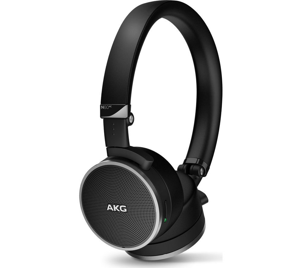 AKG N60NC Noise-Cancelling Headphones - Black, Black