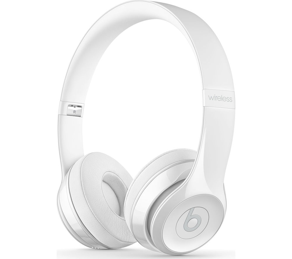BEATS BY DR DRE Solo 3 Wireless Bluetooth Headphones - White, White