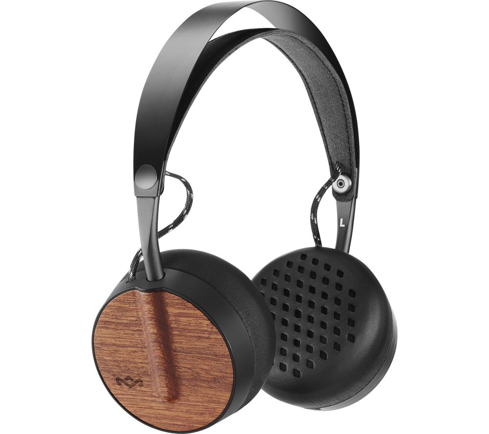 House Of Marley Buffalo Soldier Wireless Bluetooth Headphones - Black, Black