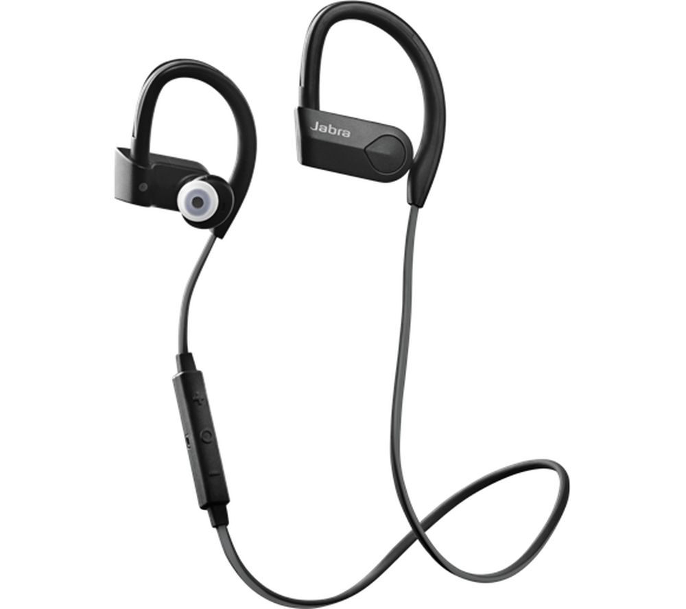 JABRA Sport Pace Wireless Bluetooth Headphones - Black, Black