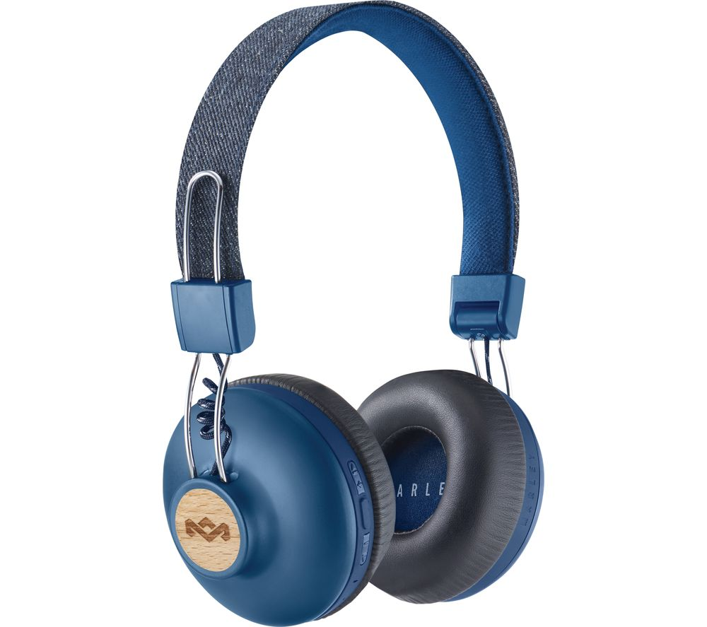 House Of Marley Positive Vibration 2 Wireless Bluetooth Headphones - Blue, Blue