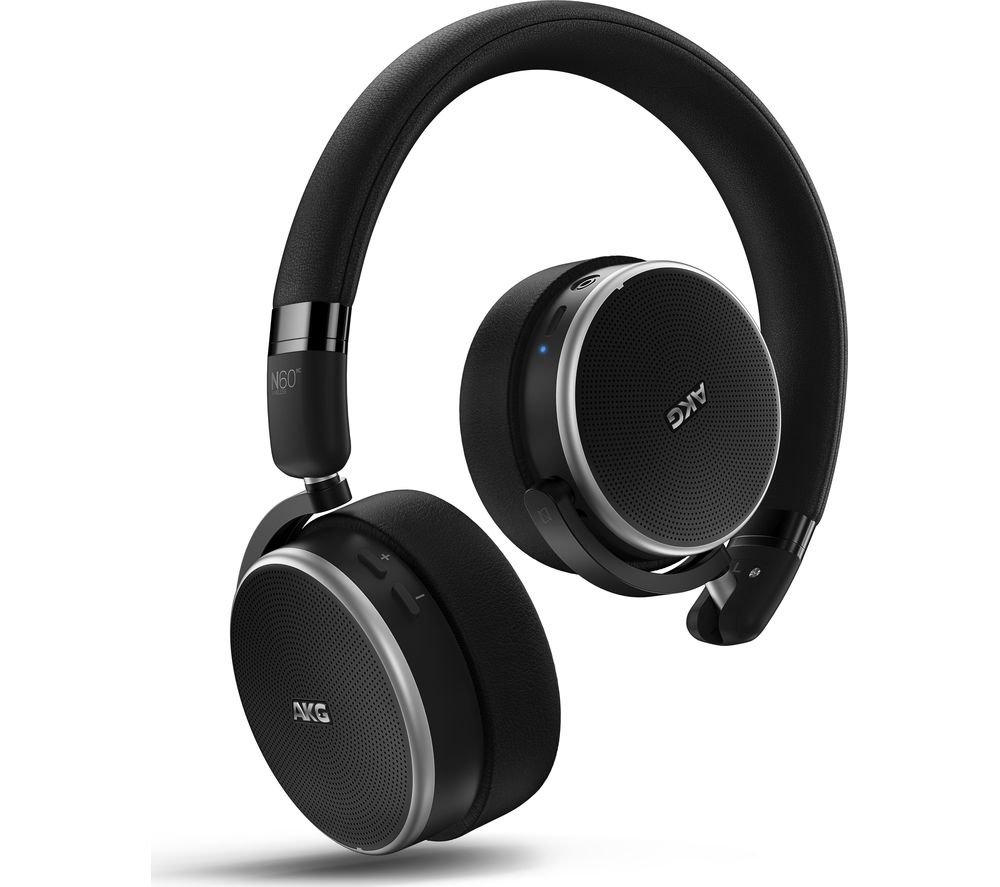 AKG N60NC Bluetooth Wireless Noise-Cancelling Headphones - Black, Black