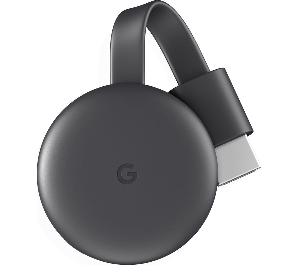 GOOGLE Chromecast - Third Generation, Charcoal, Charcoal