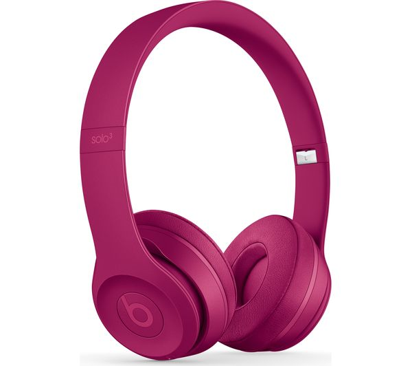 BEATS Solo 3 Neighbourhood Wireless Bluetooth Headphones - Brick Red, Red