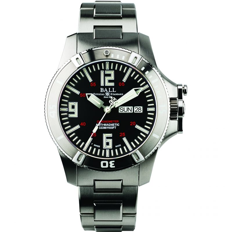 Mens Ball Engineer Hydrocarbon Spacemaster Glow Chronometer Automatic Watch