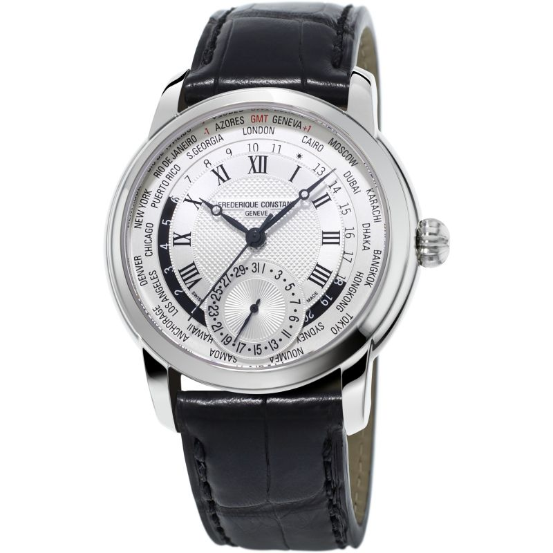 Mens Frederique Constant Classic Manufacture Worldtimer Automatic Watch
