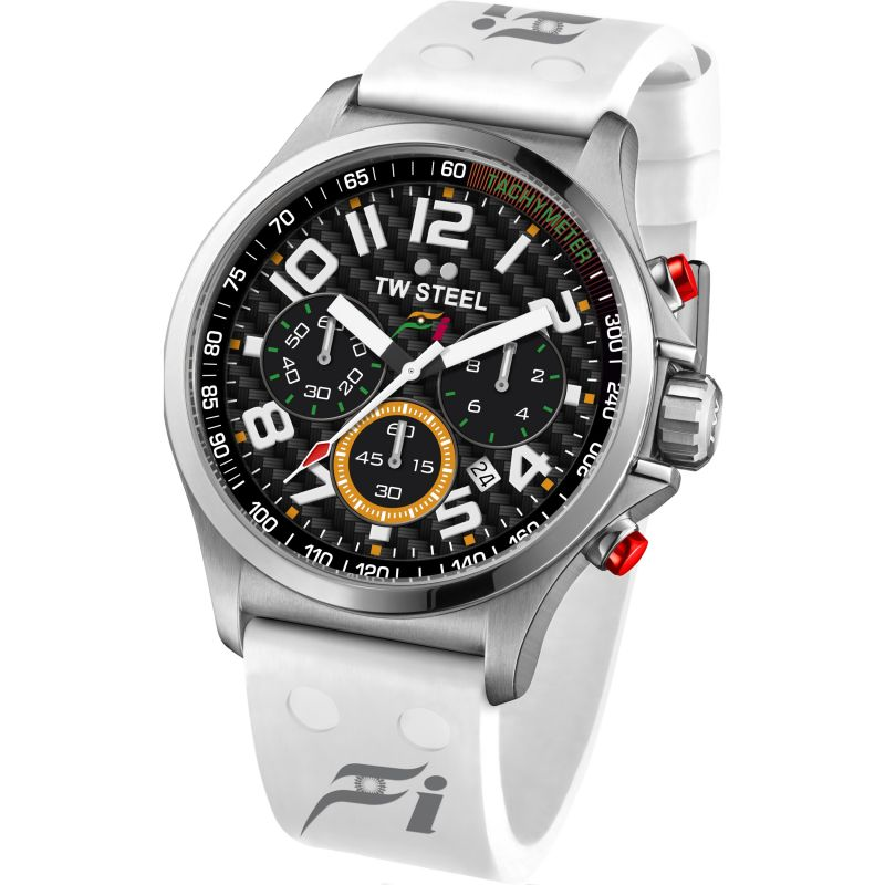 Mens TW Steel Pilot Sahara Force India F1 Chronograph 47mm Watch