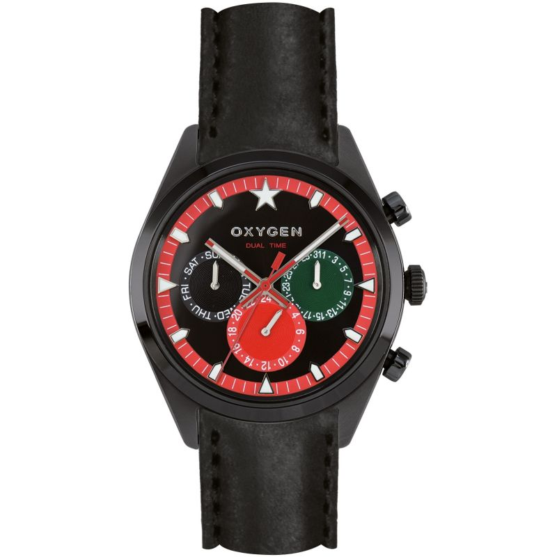 Mens Oxygen Sport Dual Time Watch