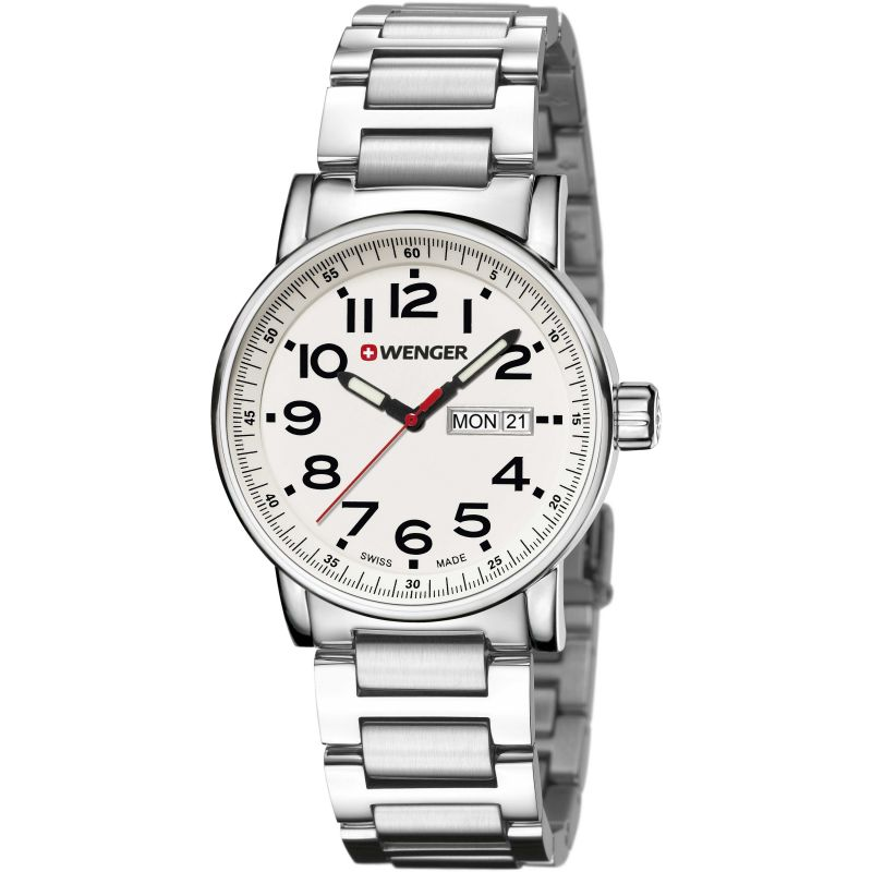 Mens Wenger Attitude day date Watch