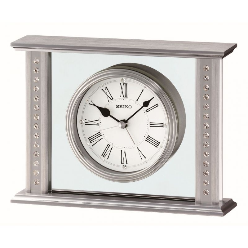 Seiko Clocks Crystal Set Mantel Alarm Clock