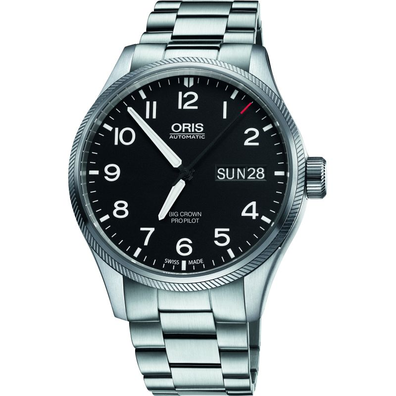 Mens Oris Big Crown ProPilot Day Date Automatic Watch