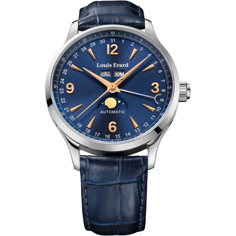 Mens Louis Erard 1931 Moonphase Annual Calendar Exclusive Automatic Watch