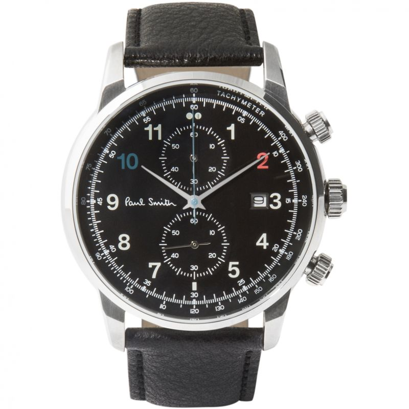Mens Paul Smith Block Leather Strap Chronograph Watch