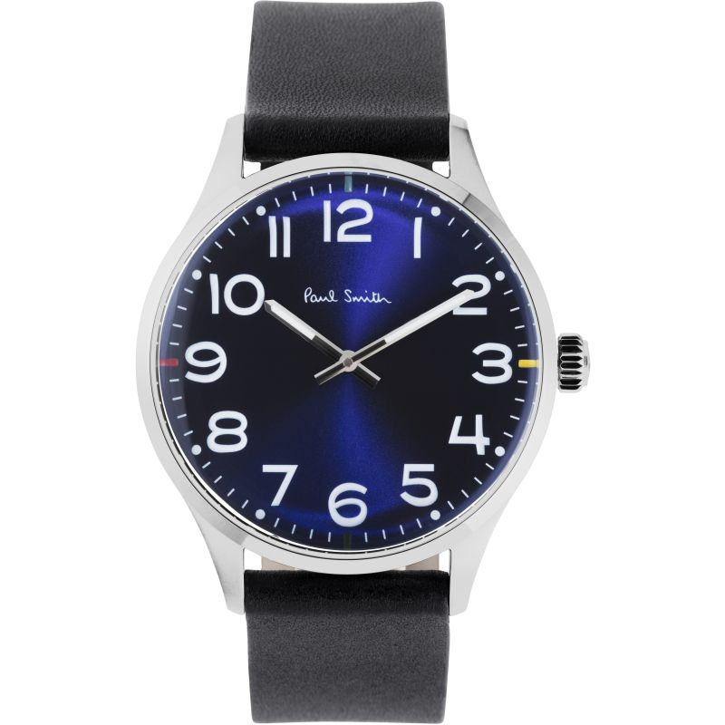 Mens Paul Smith Tempo Leather Strap Watch