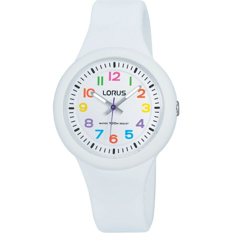 Childrens Lorus Soft white silicone strap Watch