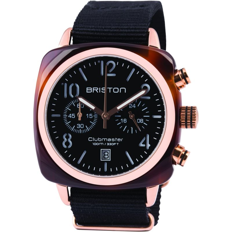 Mens Briston Clubmaster Classic Acetate Chronograph Watch