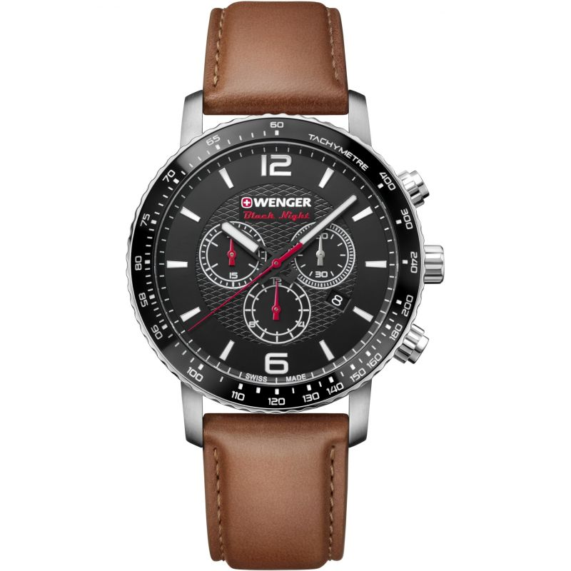Mens Wenger Roadster Black Night Chrono Chronograph Watch
