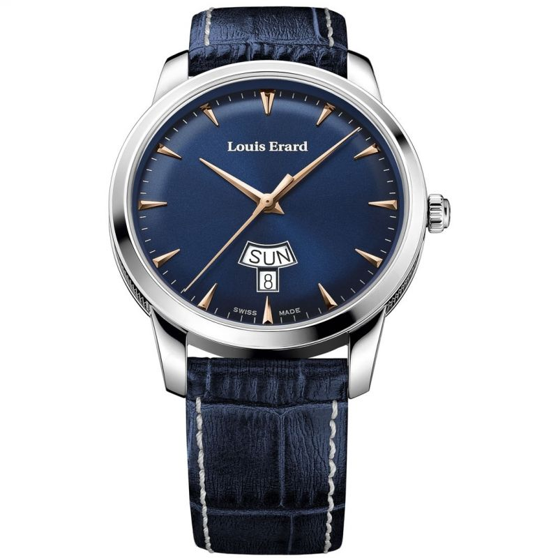 Mens Louis Erard Heritage Day Date Automatic Watch