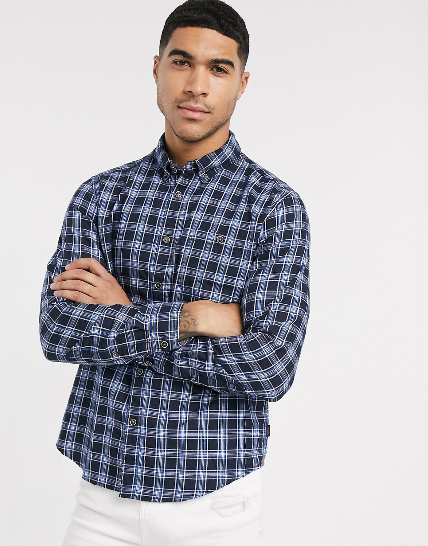 Esprit checked shirt in navy
