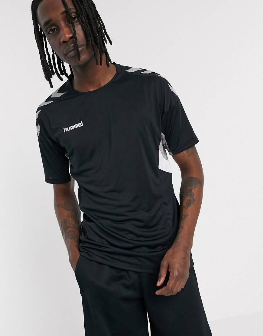 Hummel Move jersey t shirt in black