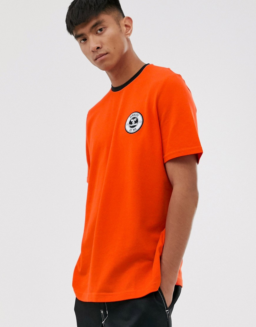 Hummel Short Sleeve T-Shirt-Orange