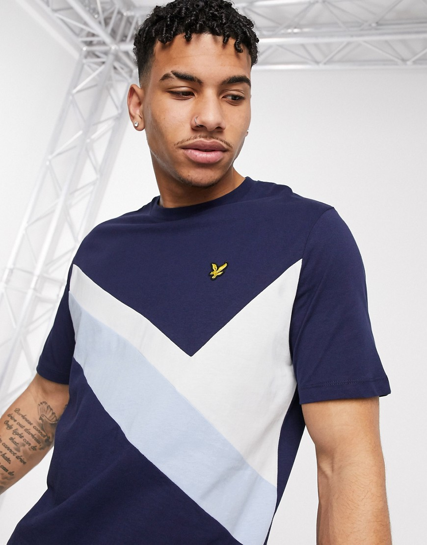 Lyle & Scott Archive panel t-shirt in navy