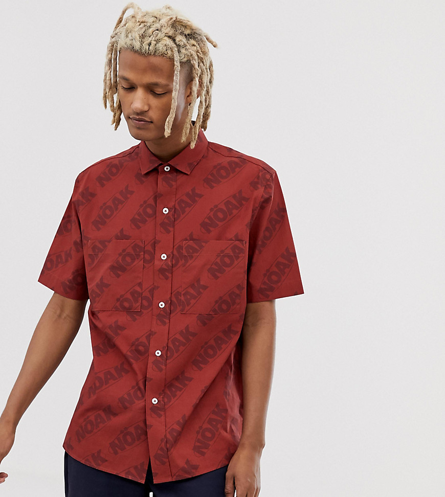 Noak shirt with patch pockets-Red
