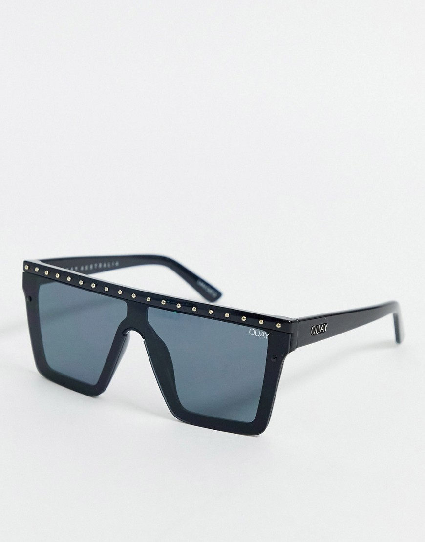 Quay Australia Hindsight flatbrow sunglasses in black