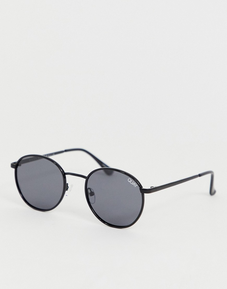 Quay Australia Omen round sunglasses in black
