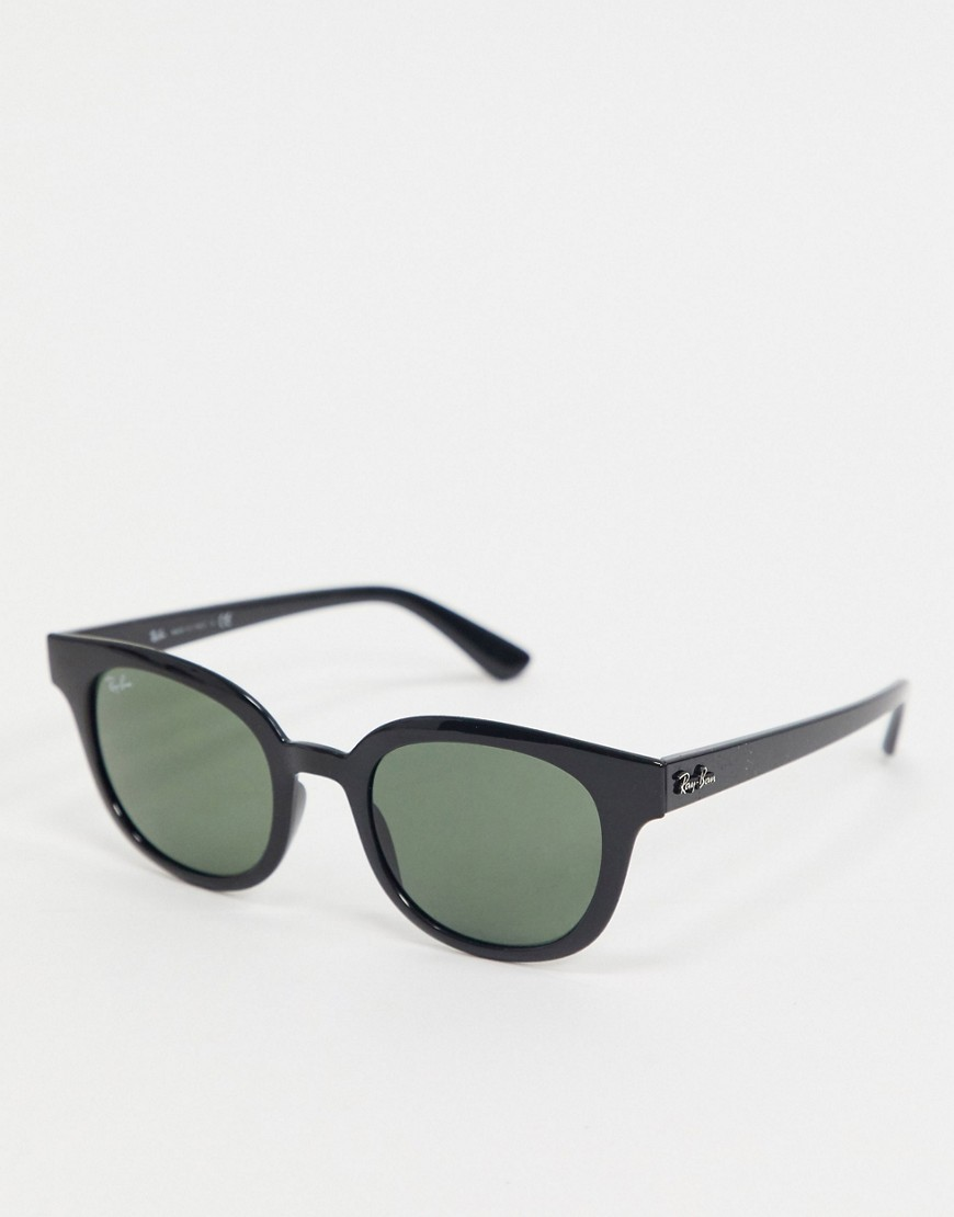 Ray-Ban 0RB4324 round sunglasses in black