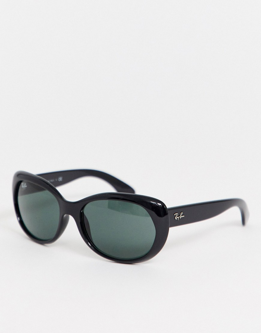 Ray-Ban 0RB4325 overized round sunglasses in black