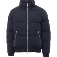 Fleece Lined Down Jacket - Navy