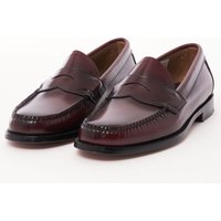Logan Polished Leather Loafer - Wine