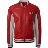 Pier Leather Track Top - Red