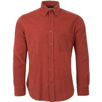 Made in Italy Cord Long Sleeve Shirt - Red