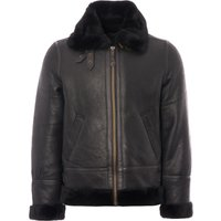 LC1259 Bombardier Leather Flying Jacket - Black
