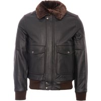 LC5331X Leather Pilot Jacket - Antic Brown