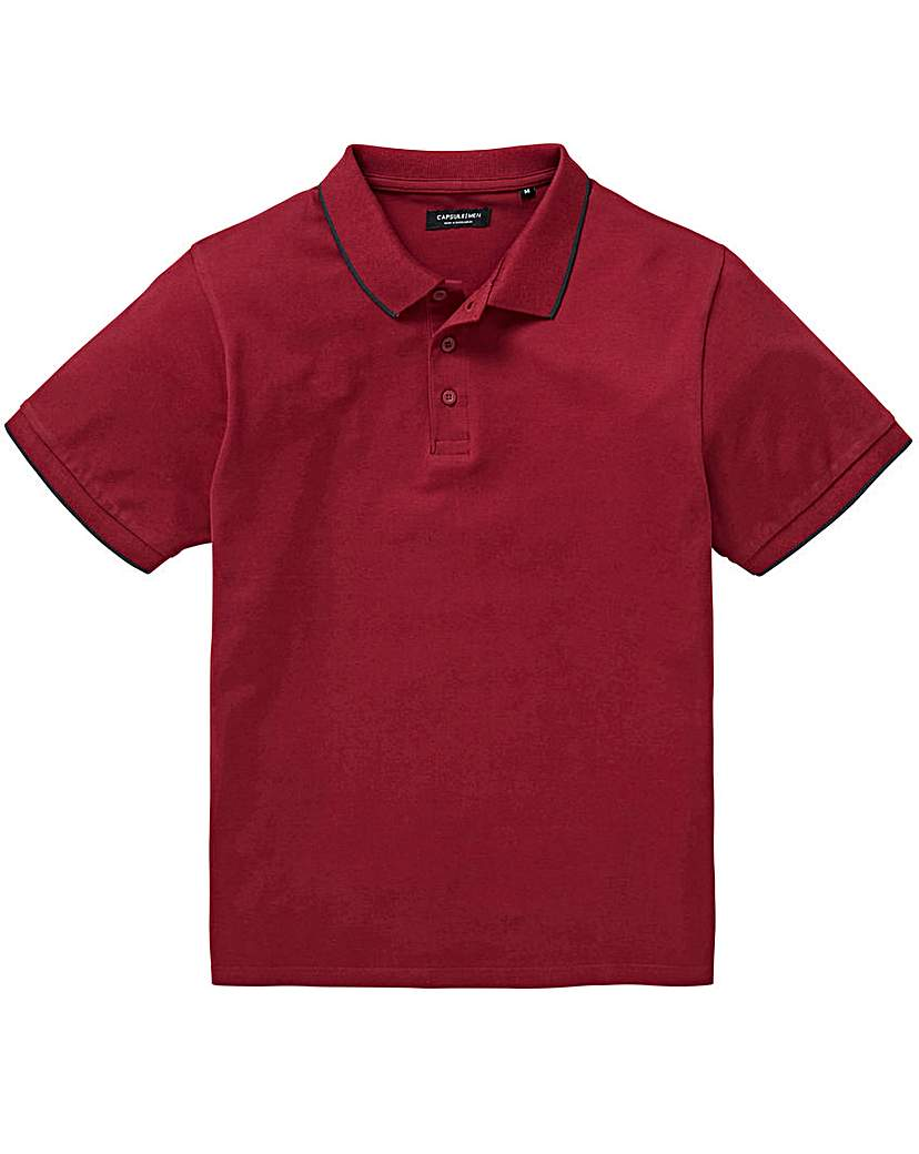Capsule Berry Stretch Tipped Polo L