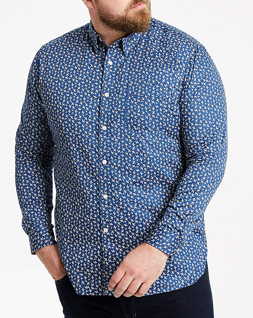 Hammond & Co Blue Paisley Sateen Shirt