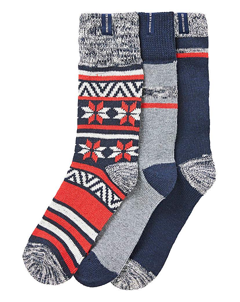 Ben Sherman Pack of 3 Boot Socks
