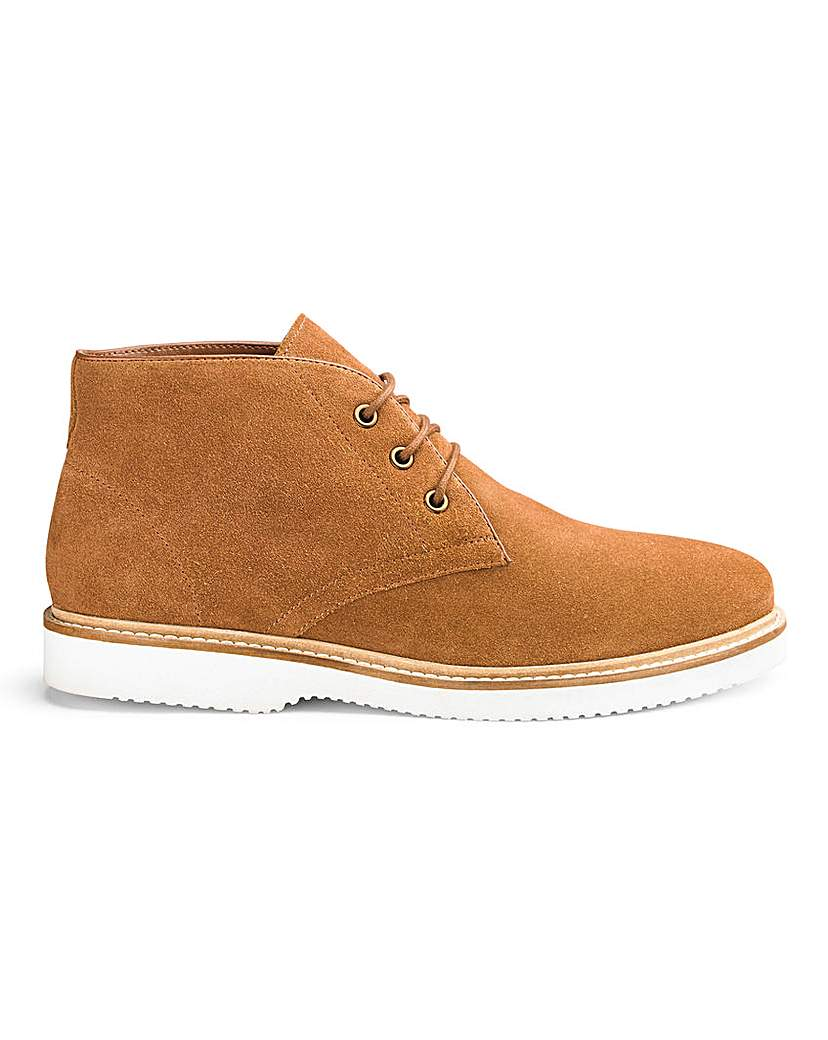Suede Wedge Boot Standard Fit