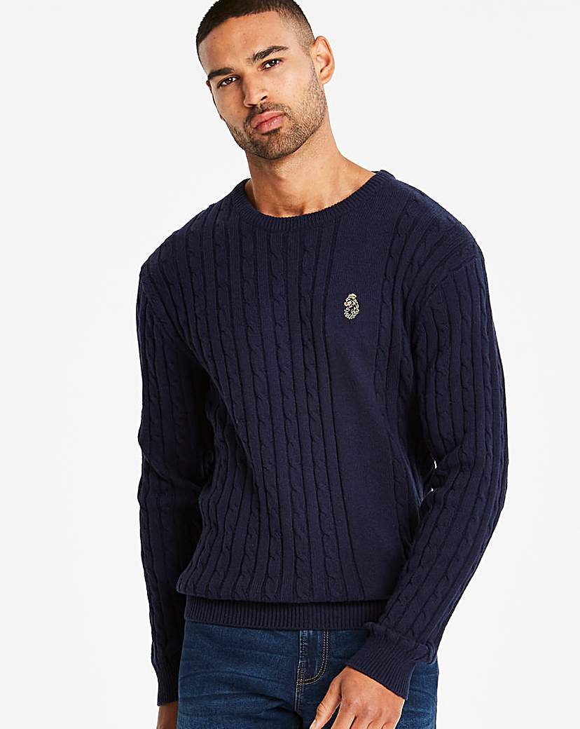 Luke Sport Navy Spencer Jumper R