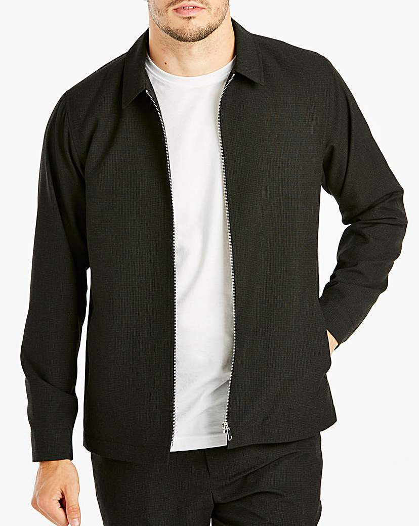 Black Check Smart Harrington R