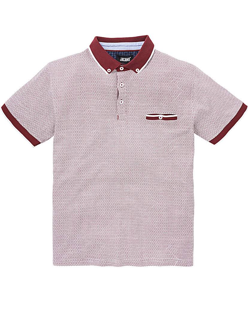 Black Label Berry S/S Geo Print Polo L