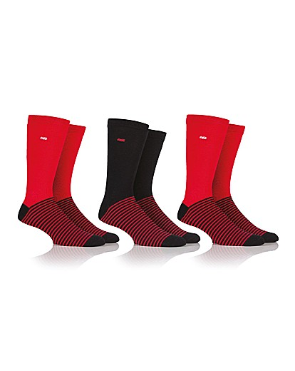 3 Pair Coca Cola Mens Striped Sock