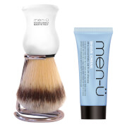 men-ü DB Premier Shave Brush with Chrome Stand - White