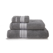 Calvin Klein Riviera Towel Range - Charcoal - Bath Sheet - Grey