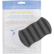 The Konjac Sponge Company 6 Wave Bath Sponge with Bamboo Charcoal