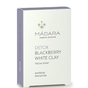 MÁDARA Blackberry White Clay Clarifying Face Soap 70g